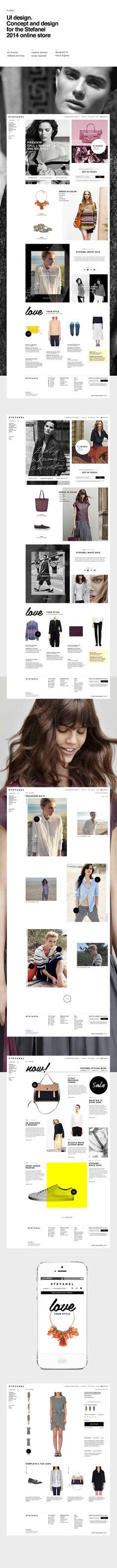 Stefanel 2014 online store on Behance