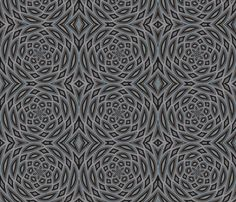 Custom fabric and wallpaper - Blue Grey Kaleidescope | http://www.spoonflower.com/profiles/tell3people?sub_action=designs