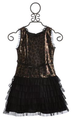 Le Pink Leopard Glam Tween Party Dress
