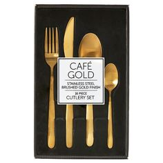 Cafe Gold 16 Piece Cutlery Set