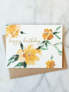 Best Pic Birthday Flowers card Tips If you want a thoughtful and fun birthday su. Best Pic Birthday Flowers card Tips If you want a thoughtful and fun birthday su. Watercolor Birthday Cards, Birthday Card Drawing, Flower Birthday Cards, Birthday Cards For Mum, Watercolor Cards, Diy Birthday, Flower Cards, Floral Watercolor, Watercolour