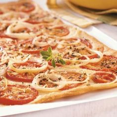 Fresh Tomato Flatbread Recipe. This would be great for when our tomatoes are ready!