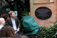 Harry unveils a plaque to mark 30 years of Leicestershire Aids Support Service and his vis...