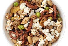 Cat Cora's Party Mix Recipe, Recipe created by Cat Cora. Read more: http://www.oprah.com/food/Party-Mix-Recipe-Cat-Cora#ixzz25w782Plx