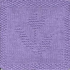Tulip Knit Dishcloth Pattern
