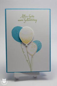 Stampin' Up!, Geburtstagskarte, Partyballons