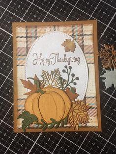 Love this card Halloween Cards, Fall Halloween, Fall Cards, Holiday Cards, Thanksgiving Card Messages, Pumpkin Cards, Scrapbook Cards, Scrapbooking, Beautiful Handmade Cards