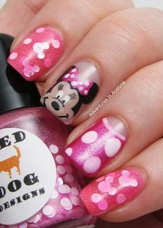 Minnie's Party Dress Nails