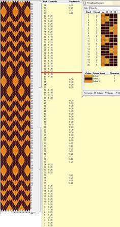 Diseño 20 tarjetas, 3 colores, repite dibujo cada 58 movimientos