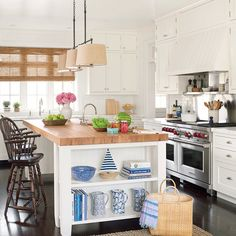 Shaker-Style Cabinetry + Old English Accents - Classic East Hampton Summer House Tour - Coastal Living
