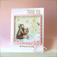 Stampin' Wonderland: くまちゃんのシェイカーカード A card for Mama Bear Mama Elephant