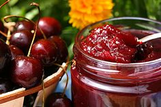 CONSERVAS: Mermelada de Cerezas Homemade Jelly, Jam And Jelly, Preserves, Pickles, Delicious Desserts, Cherry, Food And Drink, Sweets, Canning