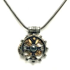 nice 'Foundryman's Ring Cross' Steampunk Cross Necklace