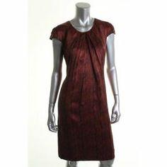 Hugo Boss Denari Red Silk Printed Dress |  #fashion #dresses #BHFO