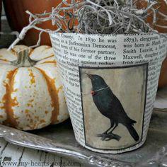 Vintage Halloween Crafts, Diy Halloween Treats, Halloween Ornaments, Holidays Halloween, Halloween Ideas, Fall Crafts, Holiday Crafts, Decoupage, Egg Carton Crafts