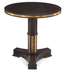 Limited Production Design & Stock: Elegant Classic Octagonal Column Side Table * Gold Gilt Detailing * 28 x 28 inches * Once Sold Out No More Will Be Made