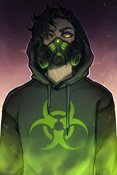 Dark Fantasy Art, Gas Mask Art, Masks Art, Dark Anime Guys, Cool Anime Guys, Cool Anime Wallpapers, Animes Wallpapers, Wallpaper Wallpapers, Anime Negra