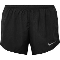 Nike Tempo mesh-paneled shell shorts ($34) ❤ liked on Polyvore featuring activewear, activewear shorts, black, nike activewear, nike sportswear and nike