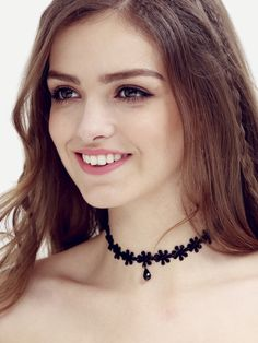 Shop Black Waterdrop Pendant Lace Choker online. SheIn offers Black Waterdrop Pendant Lace Choker & more to fit your fashionable needs.