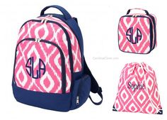 Pink Personalized Backpack for girls | Lunch boxes, Products and Dots