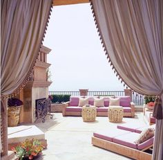 another outdoor room in the Moroccan style