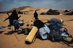 Harry Gruyaert MOROCCO. South. Near the town of Tan Tan. Nomads camp. 1976.