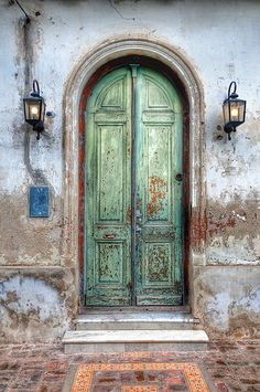 Green Door at San Antonio de Areco, Argentina