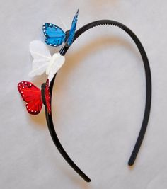 Hey, I found this really awesome Etsy listing at https://www.etsy.com/listing/189596814/red-white-and-blue-patriotic-butterfly