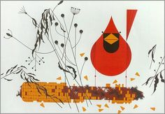 Red and Fed by Charley Harper. 1970.