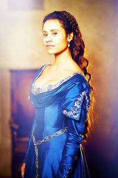Queen Guinevere from British TV series Merlin! I love her dresses in the last season.