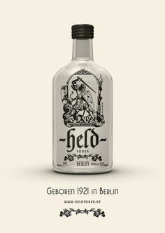 Held Vodka born 1921 in Berlin. Nice illustrations of Siegfried and the lindworm. found via Yayeveryday