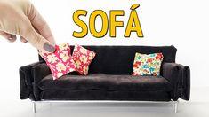 Como fazer um Sofá para Barbie e outras Bonecas!