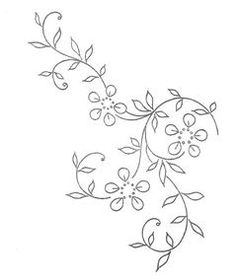 Petites fleurs - Broderie d'Antan