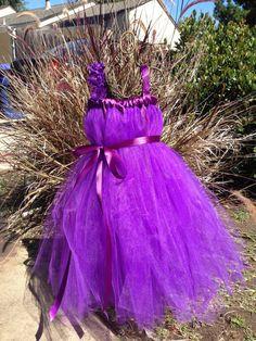 Purple Potion purple tulle dress purple by CoutureTutusForYou, $38.95