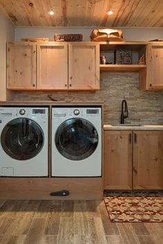 Boulder, CO Homes rustic laundry room