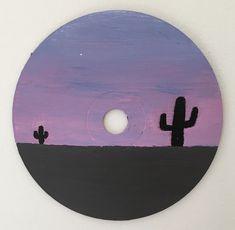 Small Canvas Art, Mini Canvas Art, Diy Canvas, Cd Wall Art, Cd Diy, Quilled Paper Art, Bullet Journal Lettering Ideas, Vinyl Art, Paintings