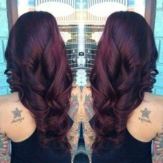 Deep dark rich Burgundy hair! Favorite color I have done so far!!!
