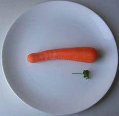 Prato só com cenoura