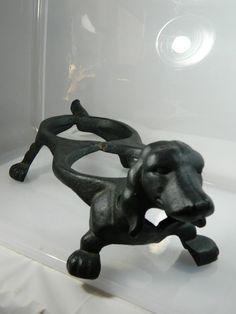 Vintage Cast Iron Dachshund Double Feeder Dog Pet Food Dish Bowl Holder. $61.99, via Etsy.