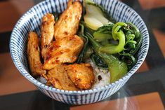 chinese chicken and bok choy (needs a few real food substitutions)