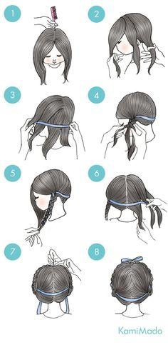 Hair Braids With Ribbon 56 Ideas For 2019 Kawaii Hairstyles, Braided Hairstyles, Cool Hairstyles, Hair Arrange, How To Draw Hair, Stylish Hair, Hair Hacks, Hairstyle Hacks, Hairstyle Tutorials