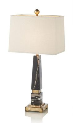 Modern lamp【最灯饰】现代奢华美式黑金龙石设计师样板房酒店会所台灯
