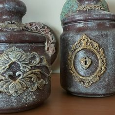 Decoupage Jars, Mix Media, Handmade, Tin Cans, Bottles, Mason Jars, Gifts, Hand Made, Mixed Media