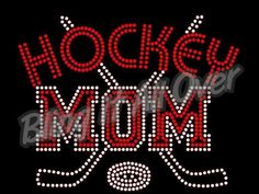 Hockey mom Rhinestone bling shirt Blingitallover@gmail.com www.facebook.com/blingitallover