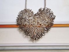 Vintage Sterling Silver Woven Heart Necklace by DareToLoveVintage, $38.00