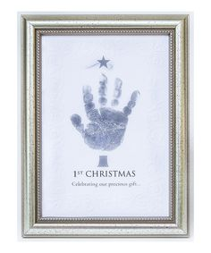 Could do something similar with K's handprint for Xmas