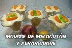 Mousse de Melocotón y Albaricoque (receta fácil)