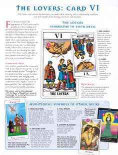 Tarot card meanings and the lovers :) x