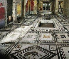 L'atrium de la domus de Paquius Proculus à Pompéi