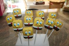 Spongebob cake pops..now this would be different. I love this idea!